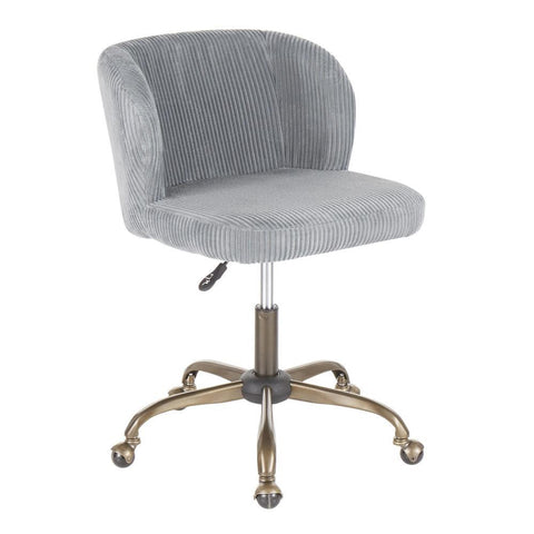 Lumisource Fran Contemporary Task Chair in Sage Corduroy Fabric