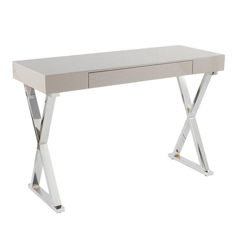 Lumisource Luster Contemporary Console Table in Grey