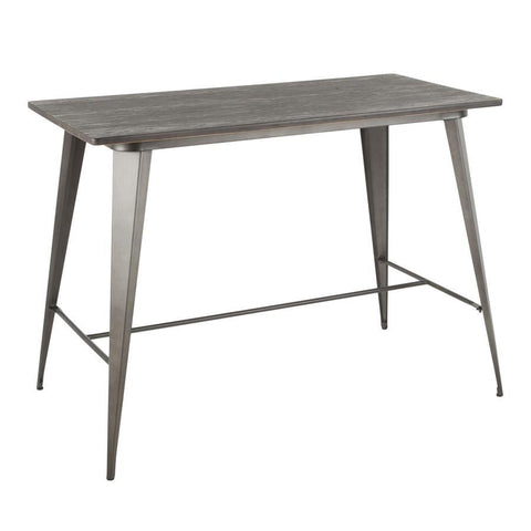 Lumisource Oregon Industrial Counter Table in Antique and Espresso