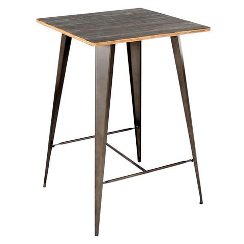Lumisource Oregon Pub Table in Dark Espresso Top/ Antique Finish