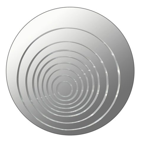 Lumisource Ripples Mirror Round In Mirrored