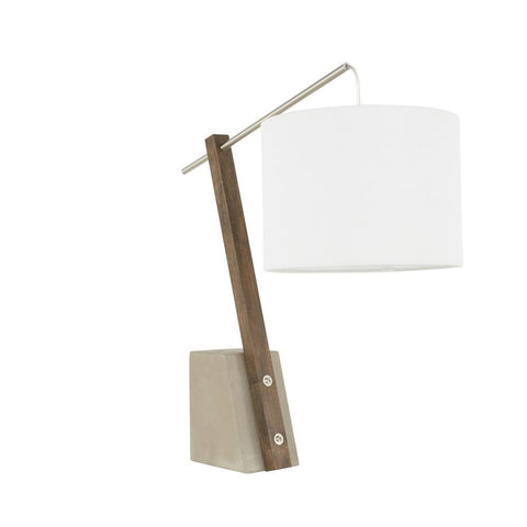 Lumisource Robyn Table Lamp with Concrete Base and White Shade