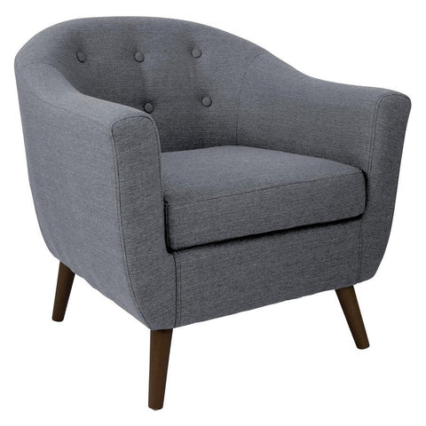 Lumisource Rockwell Accent Chair In Charcoal Grey