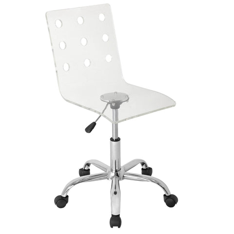 Lumisource Swiss Acrylic Office Chair In Clear