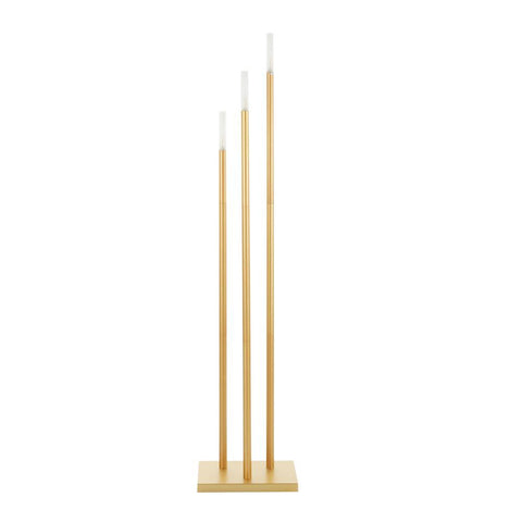 Lumisource Vertical Icicle Contemporary Floor Lamp in Gold Metal