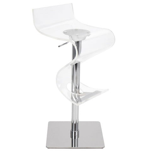 Lumisource Viva Acrylic Bar Stool In Clear