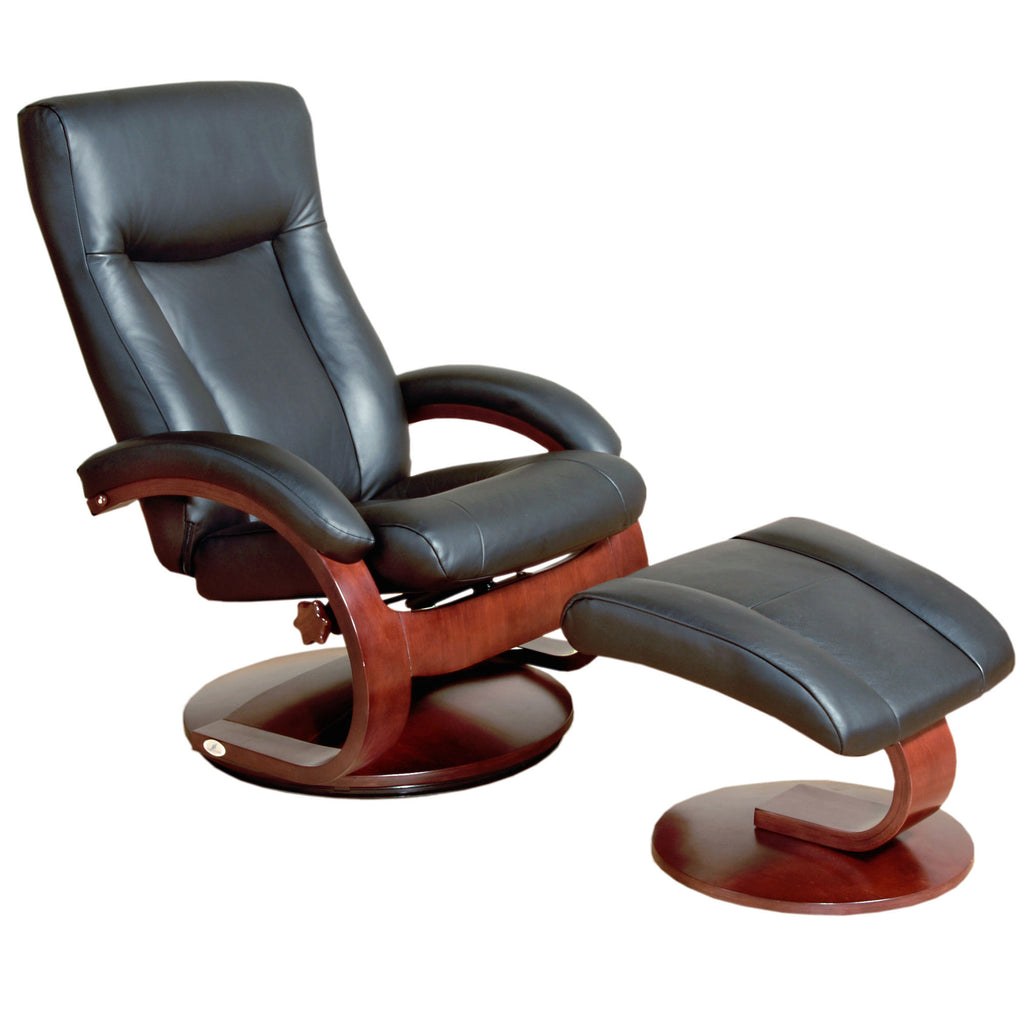 Mac Motion Oslo 54 Series Leather Swivel Recliner And