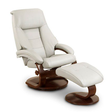Surprising Mac Motion Oslo Putty Top Grain Leather Swivel Recliner With Ottoman Pdpeps Interior Chair Design Pdpepsorg