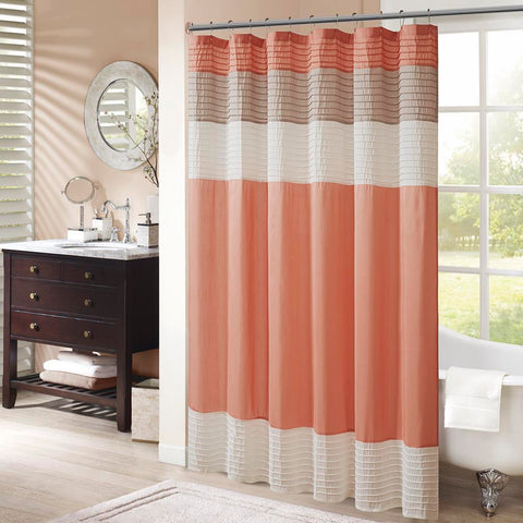 Madison Park Amherst Faux Silk Shower Curtain 72x72""