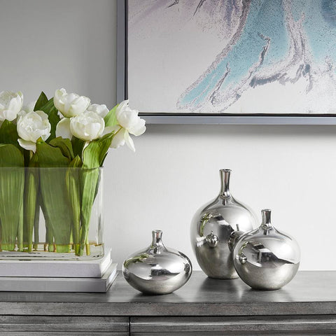 Madison Park Ansen Metallic 3PC Vase Set