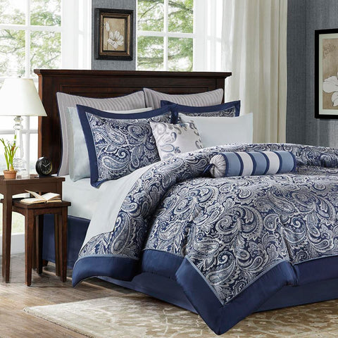 Madison Park Aubrey 12 Piece Complete Bed Set Queen