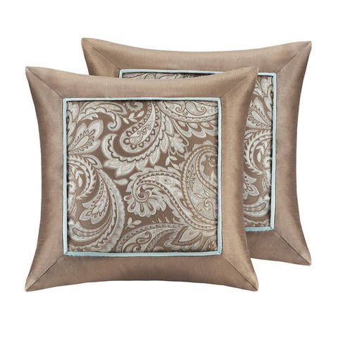 Madison Park Aubrey Jacquard Square Pillow Pair 20x20""
