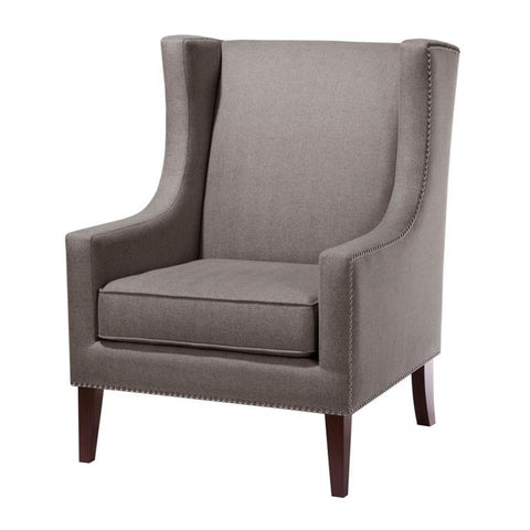 Madison Park Barton Wing Chair In Charcoal