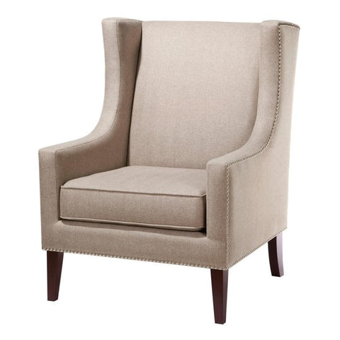 Madison Park Barton Wing Chair In Khaki