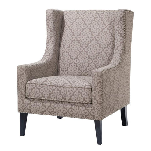 Madison Park Barton Wing Chair In Multi