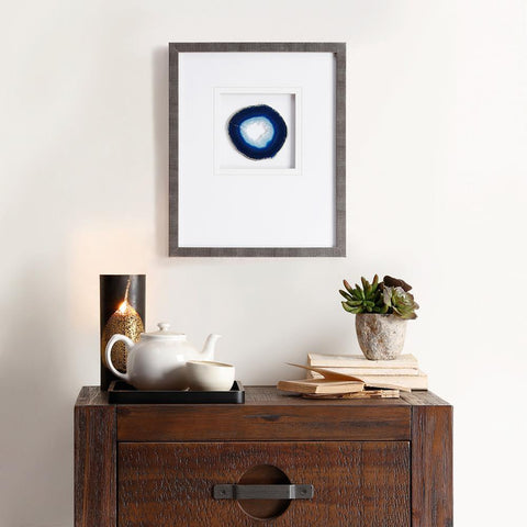 Madison Park Blue Agate Stone Framed Graphic