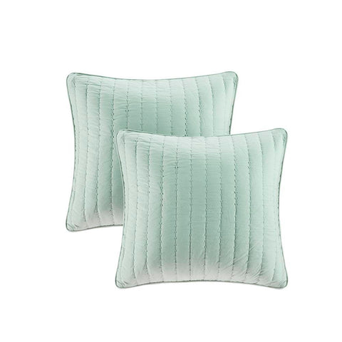 Madison Park Camila Quilted Cotton Square Pillow Pair 20x20""