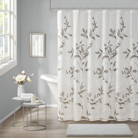 Madison Park Cecily Burnout Printed Shower Curtain 72x72""