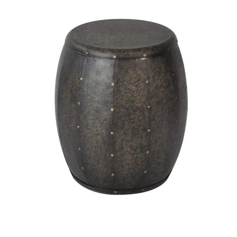 Madison Park Cirque Metal Accent Drum Table In Bronze