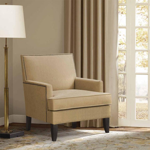 Madison Park Colton Accent Chair In Beige