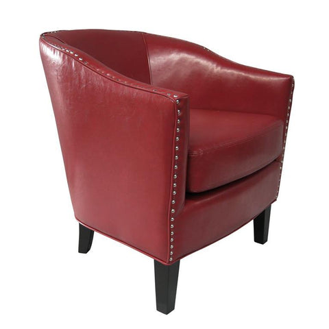 Madison Park Fremont Accent Chair In Red