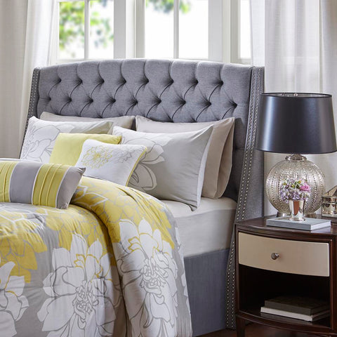 Madison Park Harper Upholstery Headboard Queen