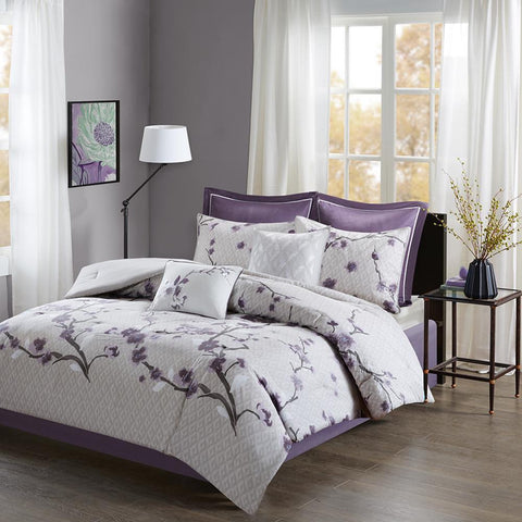 Madison Park Holly 8 Piece Cotton Comforter Set Queen