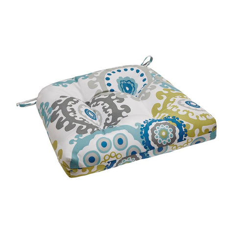 Madison Park Laguna Printed Medallion 3M Scotchgard Outdoor Seat Cushion 20x20x3""