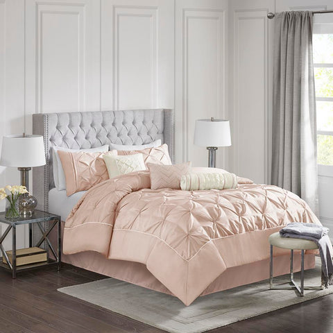 Madison Park Laurel 7 Piece Tufted Comforter Set Queen