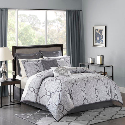 Madison Park Lavine 12 Piece Complete Bed Set King