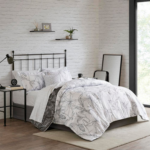 Madison Park Lilia Reversible Complete bedding set with Cotton Sheet King