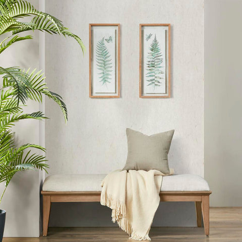 Madison Park Linden Fern 2 Piece Set Framed Wall Decor