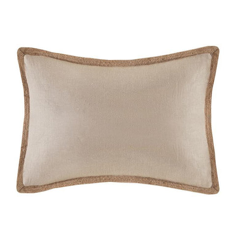 Madison Park Linen with Jute Trim Oblong Pillow In Linen