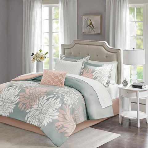 Madison Park Maible Complete Comforter and Cotton Sheet Set Cal King