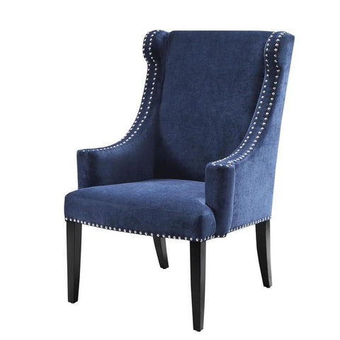 Madison Park Marcel High Back Wing Chair In Blue