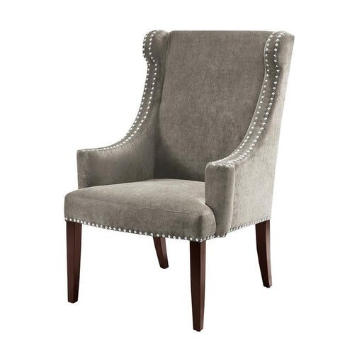Madison Park Marcel High Back Wing Chair In Charcoal