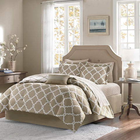 Madison Park Merritt Reversible Complete Comforter and Cotton Sheet Set Cal King