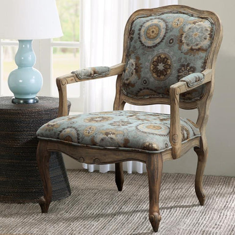 Madison Park Monroe Accent Chair In Blue