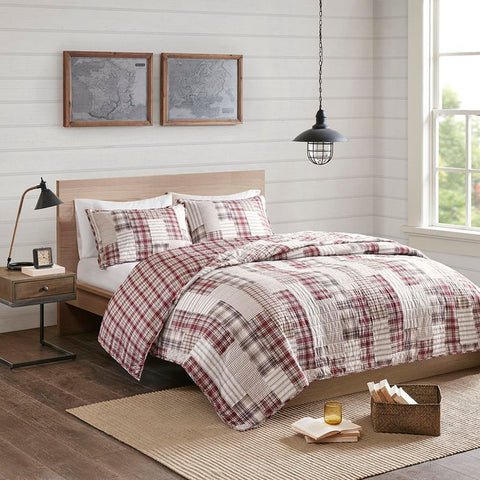 Madison Park Montana 3 Piece Reversible Printed Coverlet Set Full/Queen
