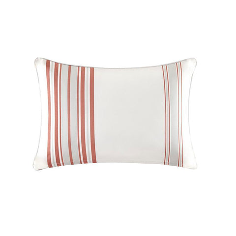 Madison Park Newport Printed Stripe 3M Scotchgard Outdoor Oblong Pillow 14x20""