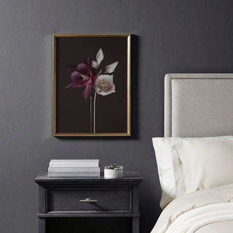 Madison Park Night Floral Glass Frame Floral Photography