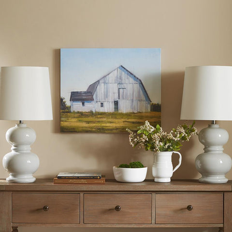 Madison Park Old White Barn Gel Coat Canvas