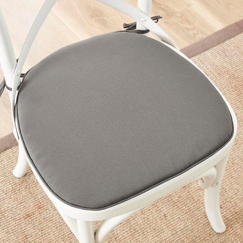 Madison Park Pacifica Solid 3M Scotchgard Indoor/Outdoor Chair Pad Pair 16x17x1""