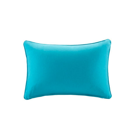Madison Park Pacifica Solid 3M Scotchgard Outdoor Oblong Pillow 14x20""