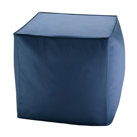 Madison Park Pacifica Solid 3M Scotchgard Outdoor Square Pouf 18x18x18""