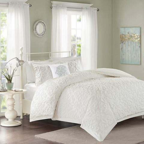Madison Park Sabrina 4 Piece Tufted Chenille Comforter Set King/Cal King