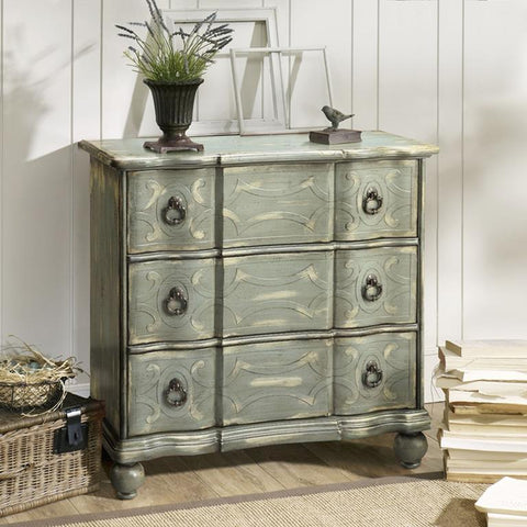 Madison Park Scroll Robins Egg Blue Accent Chest