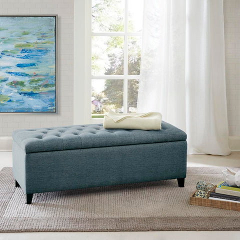 Madison Park Shandra Tufted Top Storage Bench