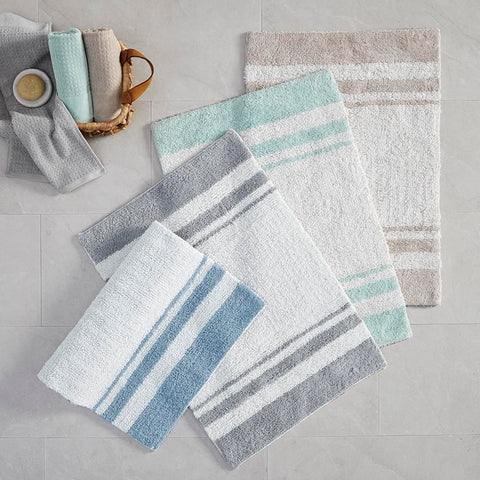 Madison Park Spa Cotton Reversible Bath Rug 24x72""