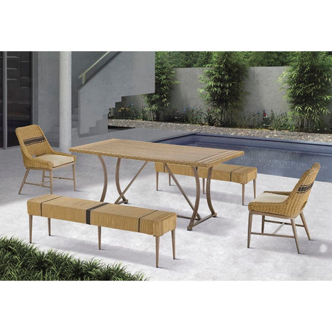 Madison Park Venice Outdoor Patio Dining Table See below